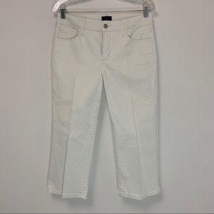 NYDJ White Crop Jean